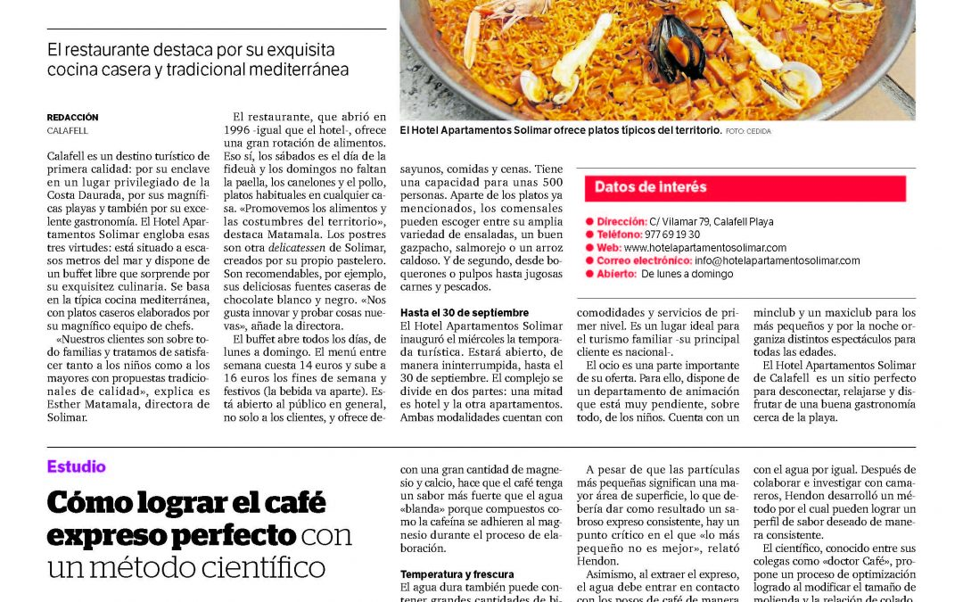 An article in a newspaper of Tarragona